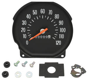 1971-72 El Camino Speedometer Floor Shift, w/Round Gauges