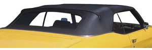 1968-72 Chevelle Convertible Tops, StayFast Premium Top w/Plastic Window