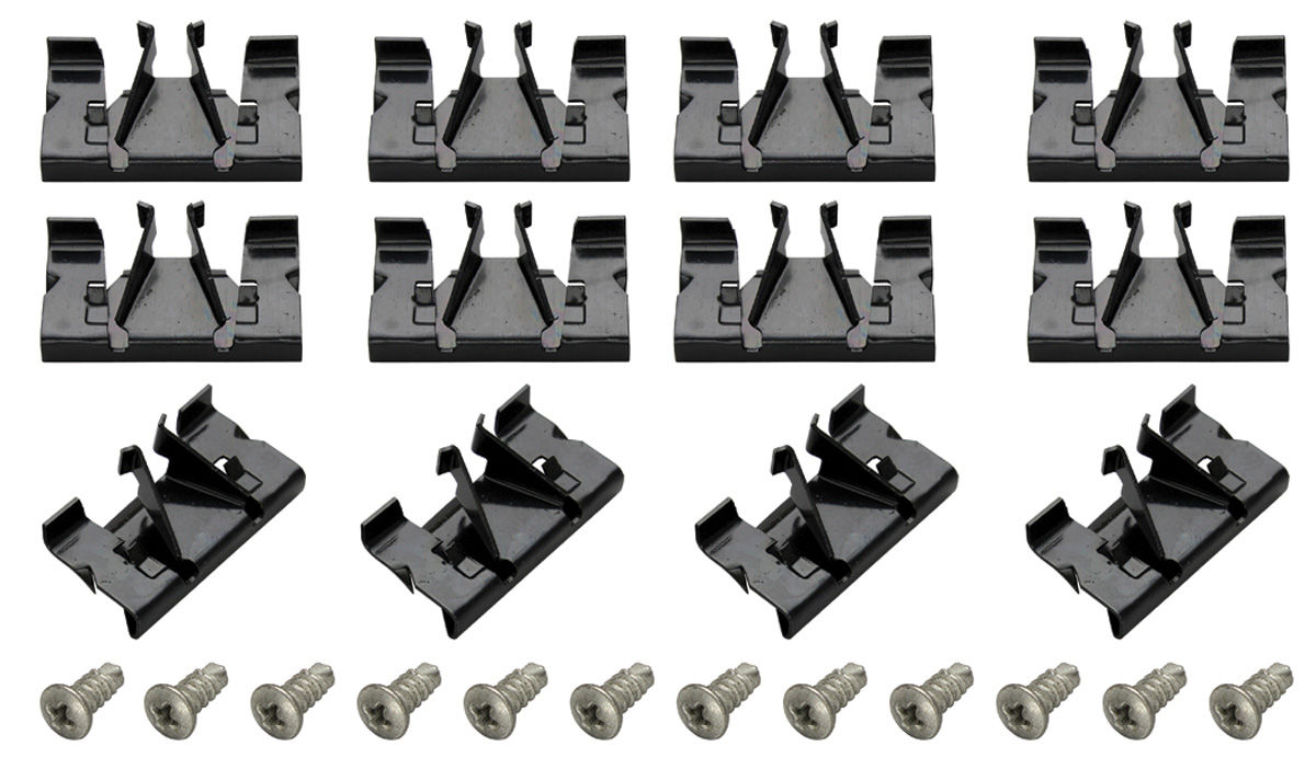 Photo of Pinchweld Molding Clips Bonneville And Catalina (12 clips/12 screws)