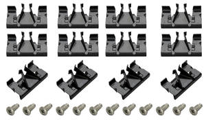 1967-1967 Grand Prix Pinchweld Molding Clips Grand Prix (12 Clips/12 Screws), by RESTOPARTS