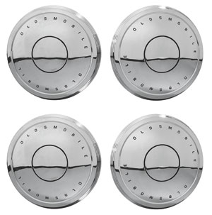 "1967-69 Cutlass Hub Cap, ""Dog Dish""-Style Set of 4"
