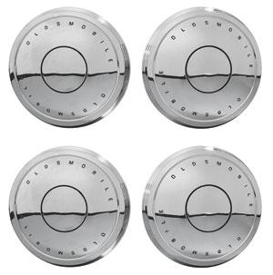 "1967-69 Cutlass/442 Hub Cap, ""Dog Dish""-Style Set of 4"