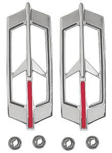 Cutlass Marker Bezels, 1968-69 Rear Side