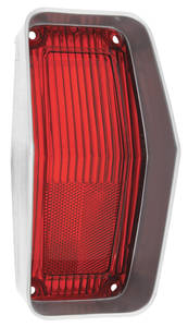 "Cutlass/442 Tail Lamp Lens, 1970 Cutlass ""S"", 4-4-2 Red/Silver Trim"