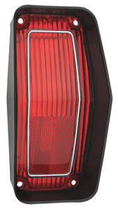 Cutlass Tail Lamp Lens, 1970 Rallye 350 Red w/Black Trim