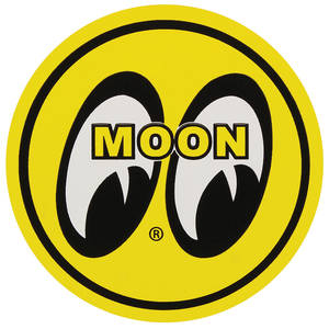 "1978-88 Monte Carlo Moon Novelty Items Moon Magnet 3"" Yellow Moon, by Clay Smith"