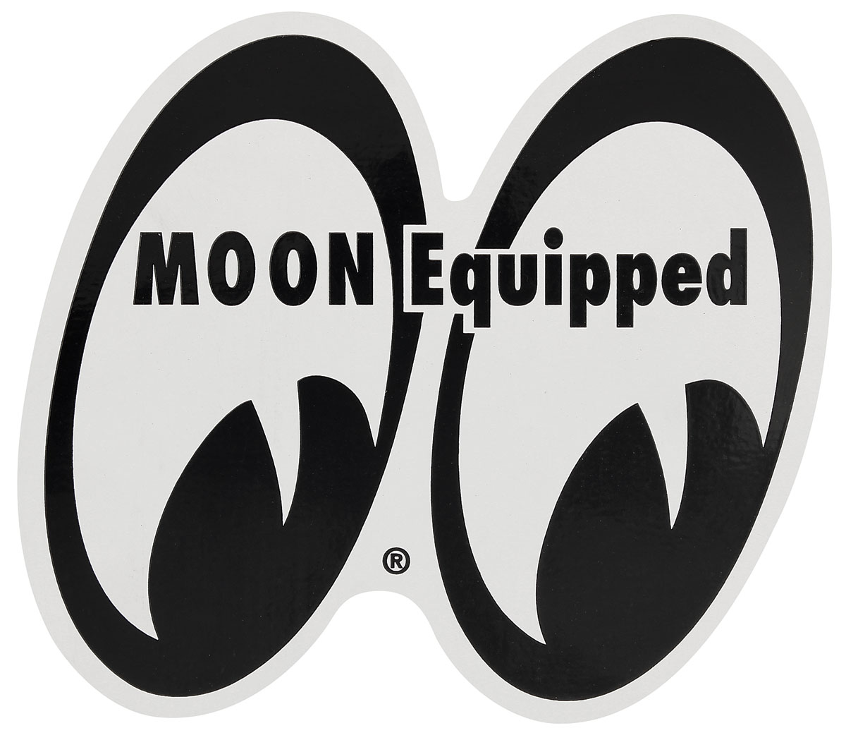 "Photo of Moon Novelty 4"" x 4-1/4"" Magnet - ""MOON Equipped"""