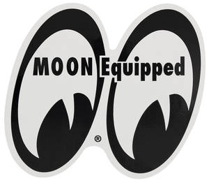 "1978-88 Malibu Moon Novelty Items Moon Equipped 4"" X 4-1/4"" Magnet, by Clay Smith"