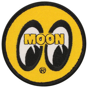 "Mooneyes Novelty Items Moon 3"" Yellow Sew on Patch"