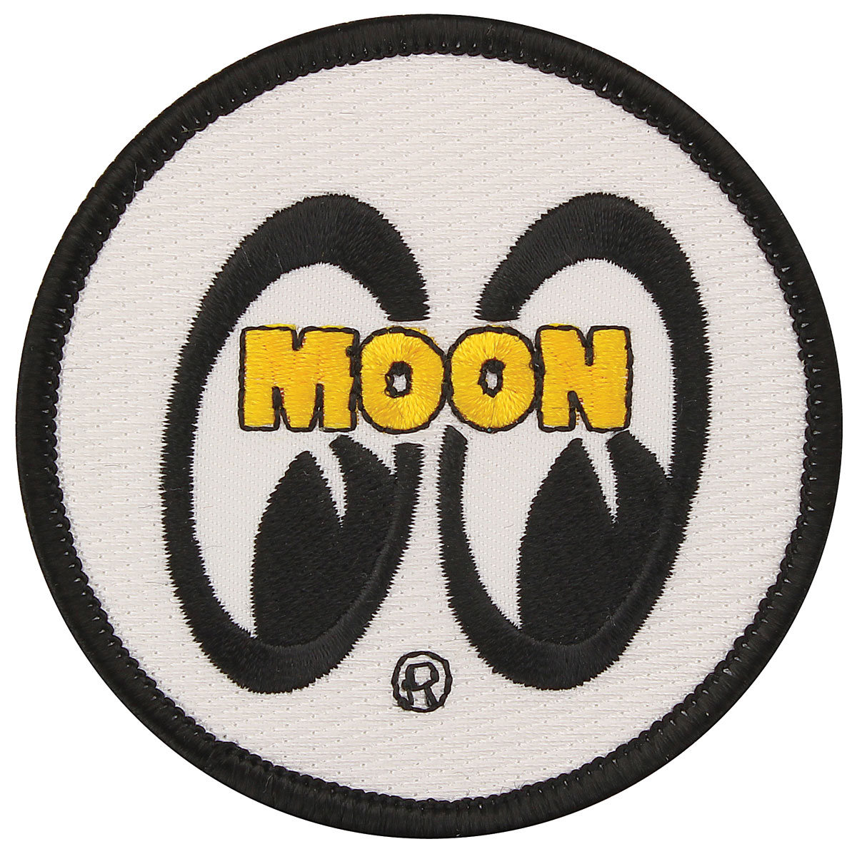 "Photo of Moon Novelty 3"" White Sew-On Patch"