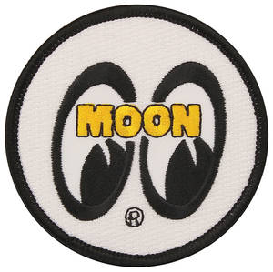 "1978-88 Monte Carlo Moon Novelty Items Moon 3"" White Sew on Patch, by Clay Smith"