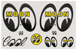 1978-1988 Monte Carlo Moon Novelty Items Moon 6 Decal Sheet, by Clay Smith