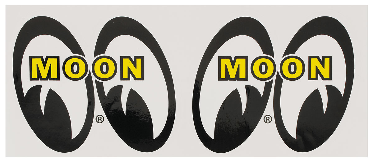 "Photo of Moon Novelty Items ""Mooneyes"" 3-1/4"" decals"