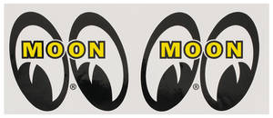 "1978-88 El Camino Moon Novelty Items ""Mooneyes"" 3-1/4"" Decals, by Clay Smith"
