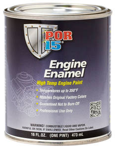 1961-74 Tempest Engine Paint Enamel Black, 1 Pint