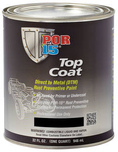 1978-1983 Malibu Top Coat 1-Quart, by POR-15