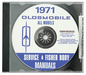1971 Cutlass CD-ROM Factory Shop Manuals