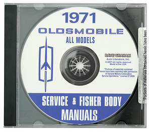 1971 Cutlass CD-ROM Factory Shop Manuals