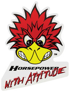 "Clay Smith Decals 4-1/8"" X 5-1/2"" HP w/Attitude"