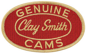 "Clay Smith Embroidered Patch 4"" X 2-1/2"" Red w/Gold"