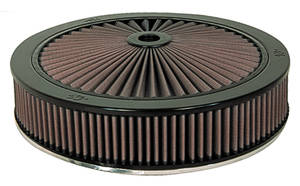 "1961-77 Cutlass Air Filter, X-Stream Complete 14"" X 4-3/4"" (Drop Base)"