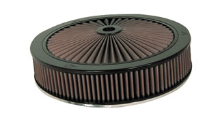"1959-77 Bonneville Air Cleaner Element, X-Stream Complete 14"" X 4-5/8"""