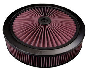 "1959-1977 Bonneville Air Cleaner Element, X-Stream Complete 14"" X 2-3/4"" (Drop Base)"