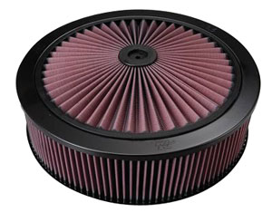 "1954-76 Cadillac Air Filter (X-Stream) Complete 14"" X 3-3/4"" (Drop Base)"