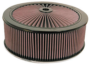 "1961-73 Tempest Air Filter, X-Stream Complete 14"" X 4-3/4"" (Drop Base)"