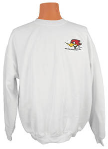 1978-1988 Monte Carlo Mr. Horsepower Embroidered Sweatshirt White, by Clay Smith