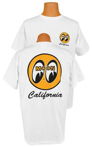 Mooneyes T-Shirt California, White, by Clay Smith