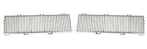 Cutlass/442 Hood Louvers, 1969-70 Cutlass S, 4-4-2, Hurst/Olds Chrome Non-OAI
