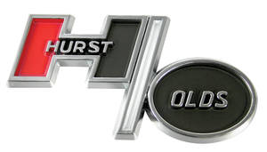 "1969-72 Cutlass Fender & Trunk Emblem; ""Hurst/Olds"" Small"
