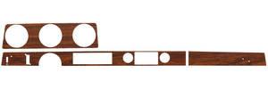 1972 Cutlass Dash Inserts, Wood Grain Convertible