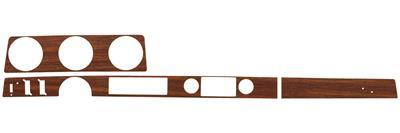 1972-1972 Cutlass Dash Inserts, Wood Grain Convertible w/Cruise