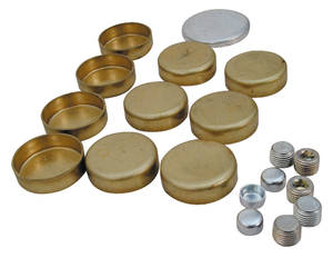 1964-77 Cutlass Freeze Plug Kit (Brass) V8, All