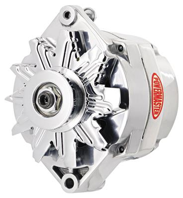 1961-1973 LeMans Alternator, Performance 10si (85-Amp, Int. Reg.) Polished, by POWERMASTER