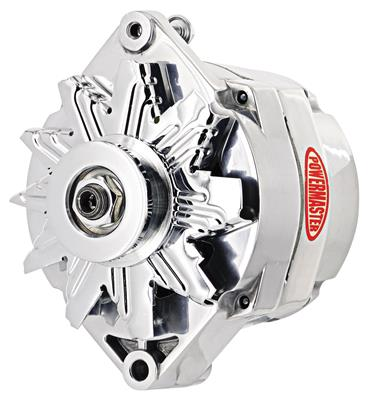 1961-1977 Cutlass Alternator, Performance 12si (100-Amp, Int. Reg.) Polished, by POWERMASTER