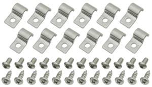 "1954-1976 Cadillac Line Clamps (Stainless Steel) Single-Tube (1/4"")"