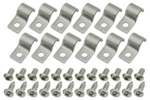 Fuel & Brake Line Clamps (Stainless Steel) Single-Tube 5/16""