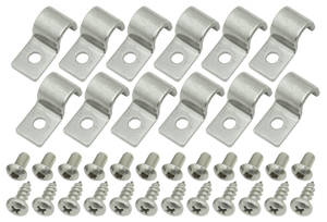 Fuel & Brake Line Clamps (Stainless Steel) Single-Tube 3/8""