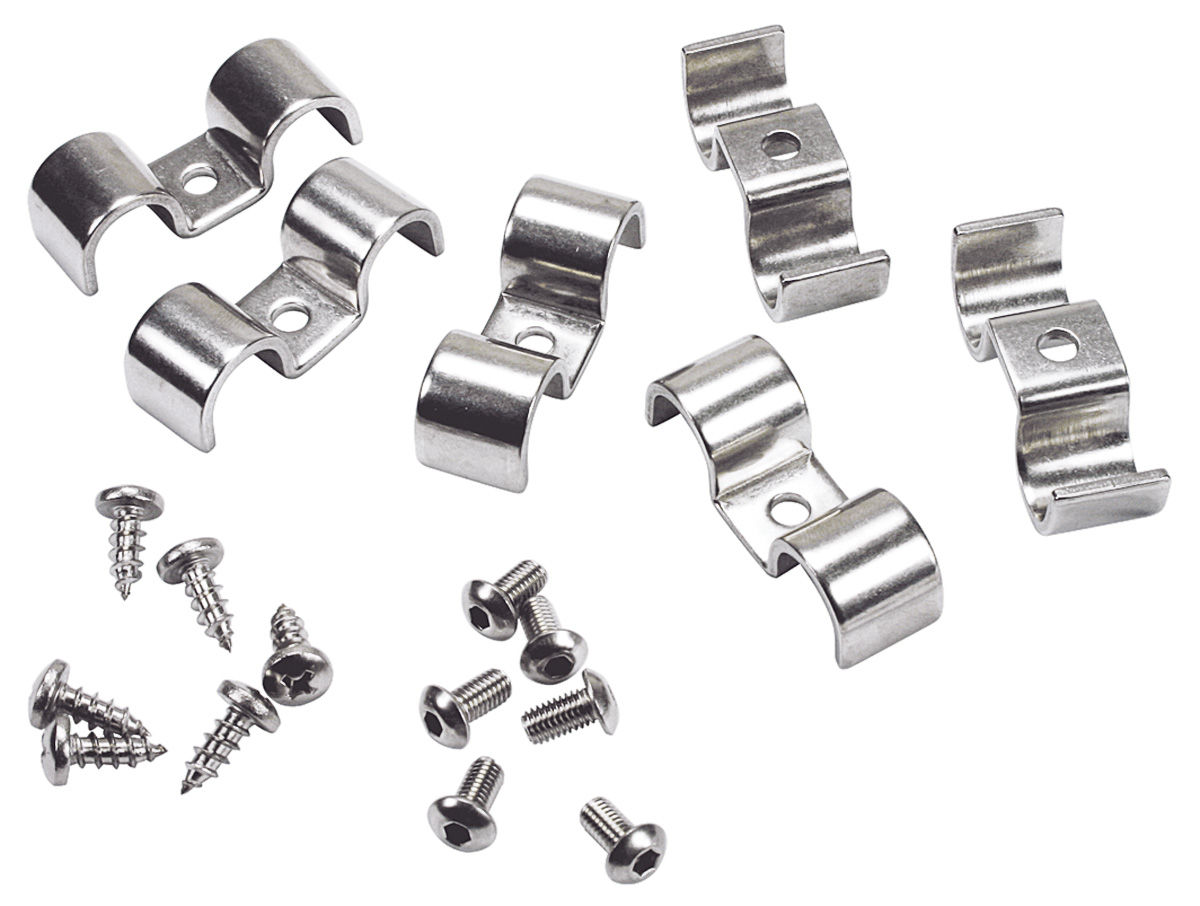 Brake Lines Fittings Catalog : Fuel brake line clamps stainless steel double tube