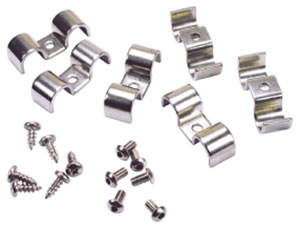 "Photo of Line Clamps, Stainless Steel Double-Tube 5/16"" x 5/16"""