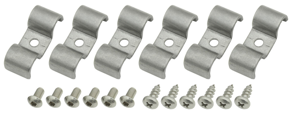 "Photo of Line Clamps (Stainless Steel) Double-Tube (3/8"" x 3/8"")"