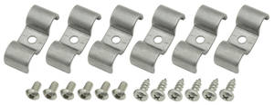 "1978-1988 El Camino Line Clamps, Stainless Steel Double-Tube 3/8"" X 3/8"""