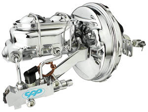 "1964-1966 El Camino Master Cylinder/Booster Assembly, Full Show 9"" w/Chrome Master Cylinder, by CPP"