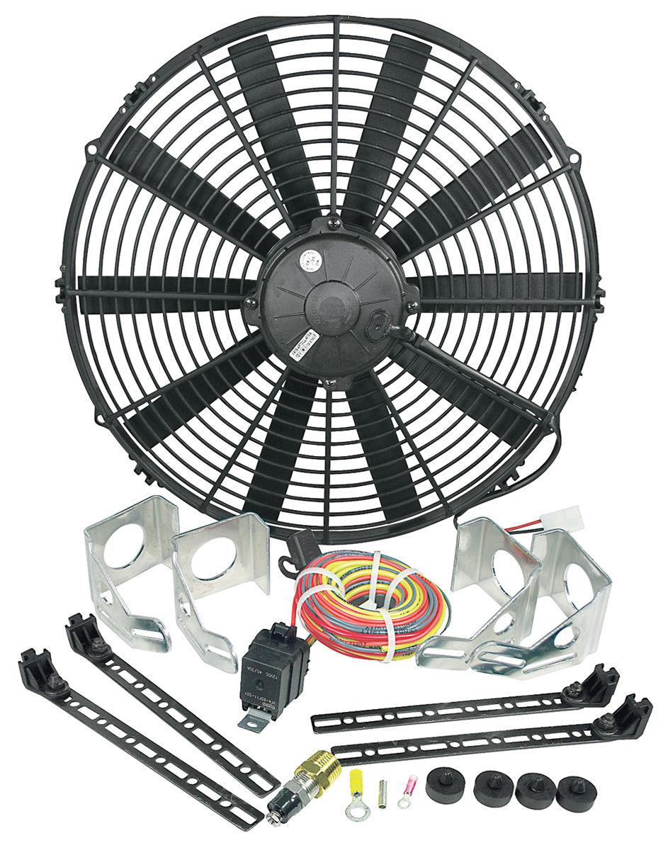 "Photo of Electric Fan Module Assembly 16"" Single Puller (2360 Cfm) black"