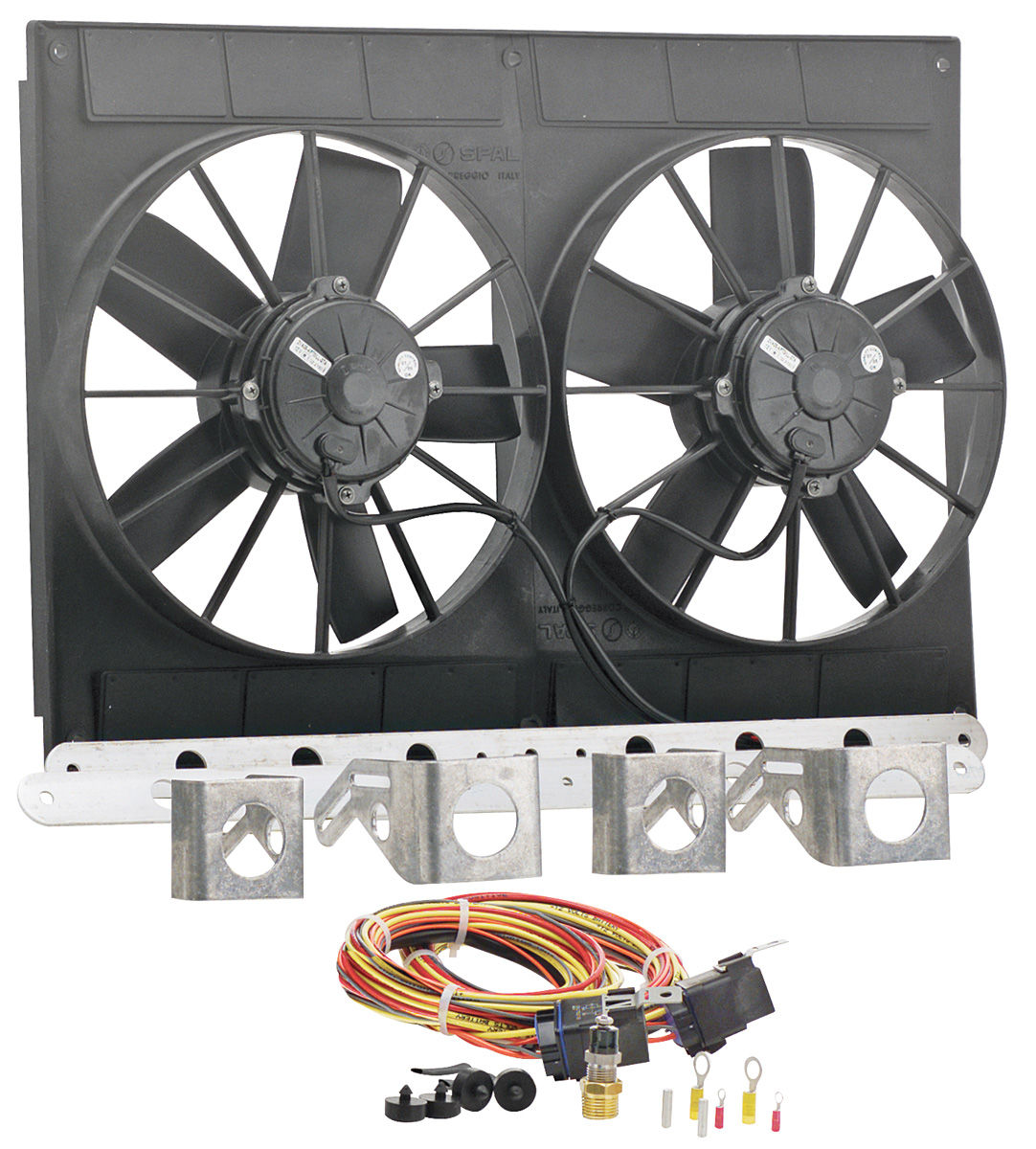 "Photo of Electric Fan Module Assembly 11"" Dual Puller (2780 Cfm) black"