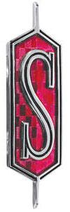 """1969-1970 Cutlass Hood Emblem, 1969-70 Cutlass """"S"""""""
