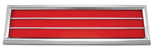 1970-72 Cutlass/442 Door Panel Reflector Assembly, Lower Red
